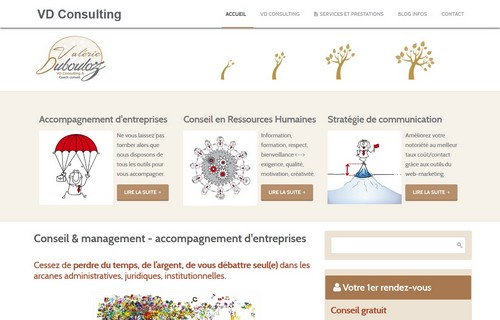 Site Internet Responsive Design VD Consulting