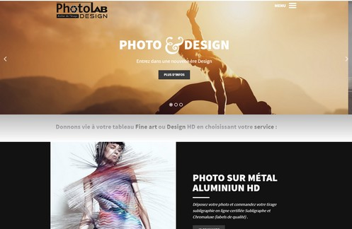 Site Internet Responsive Design pour mobile Photo Lab Design