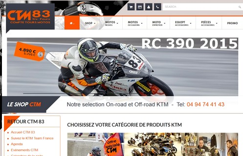 Site Internet Responsive Design Shop CTM 83